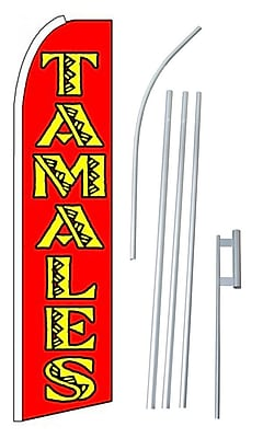 NeoPlex Tamales Swooper Flag and Flagpole Set
