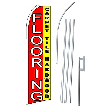 NeoPlex Flooring Carpet Tile Hardwood Swooper Flag and Flagpole Set