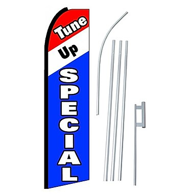 NeoPlex Tune Up Special Swooper Flag and Flagpole Set