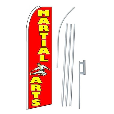 NeoPlex Martial Arts Swooper Flag and Flagpole Set