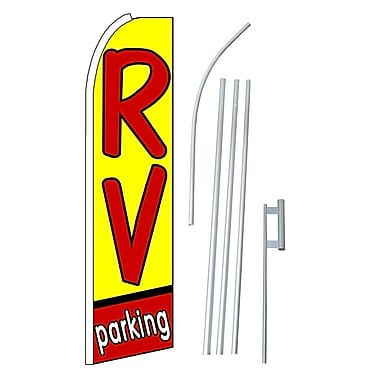 NeoPlex RV Parking Swooper Flag and Flagpole Set