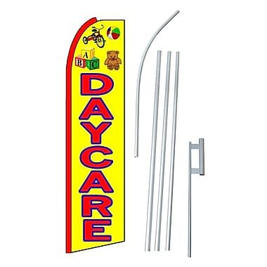 NeoPlex Day Care Swooper Flag and Flagpole Set