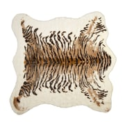 Luxe Natural Faux Cowhide Brown/Black Area Rug