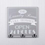 Adams & Co 'Laundry' Wall Mounted Coat Rack; Gray / White