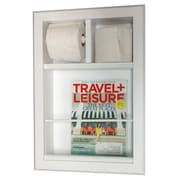 WG Wood Products In The Wall Bevel Frame Magazine Rack w/ Toilet Paper Combo