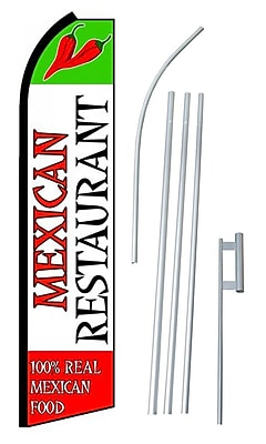 NeoPlex Mexican Restaurant Swooper Flag and Flagpole Set WYF078279108703