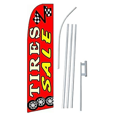 NeoPlex Tires Sale Swooper Flag and Flagpole Set