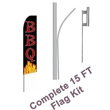 NeoPlex BBQ Swooper Flag and Flagpole Set
