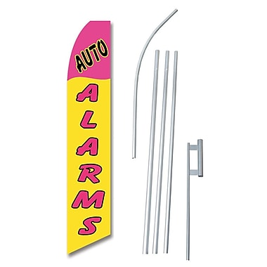 NeoPlex Auto Alarms Swooper Flag and Flagpole Set