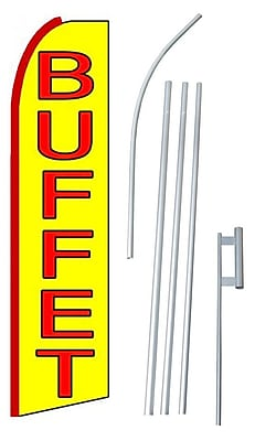 NeoPlex Buffet Swooper Flag and Flagpole Set