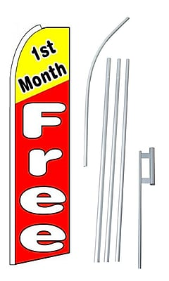 NeoPlex 1st Month Free Swooper Flag and Flagpole Set