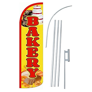 NeoPlex Bakery Swooper Flag and Flagpole Set