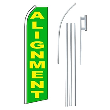 NeoPlex Alignment Swooper Flag and Flagpole Set