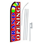NeoPlex Grand Opening Swooper Flag and Flagpole Set