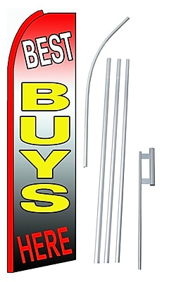 NeoPlex Best Buys Here Swooper Flag and Flagpole Set