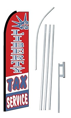NeoPlex Liberty Tax Service Swooper Flag and Flagpole Set