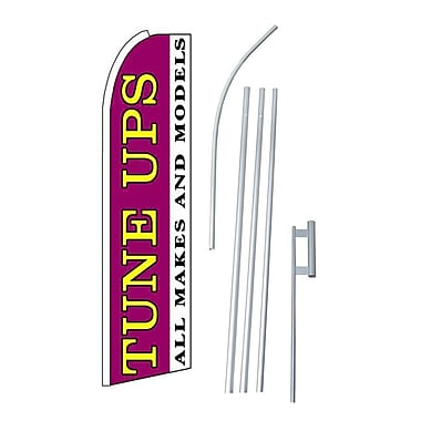 NeoPlex Tune Ups All Makes and Models Swooper Flag and Flagpole Set