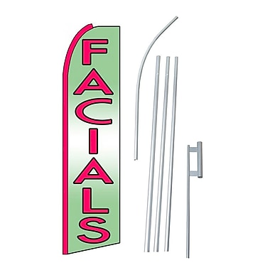 NeoPlex Facials Swooper Flag and Flagpole Set