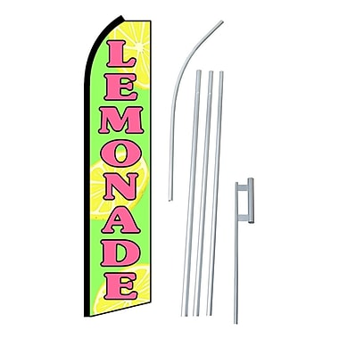 NeoPlex Lemonade Swooper Flag and Flagpole Set