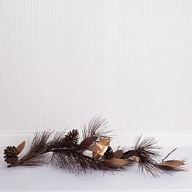 Adams & Co Pine Magnolia Garland; Brown