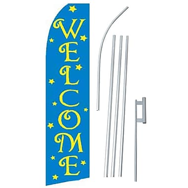 NeoPlex Welcome Stars Swooper Flag and Flagpole Set
