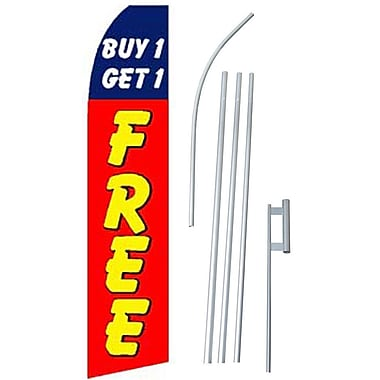 NeoPlex Buy 1 Get 1 Free Swooper Flag and Flagpole Set