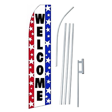 NeoPlex Welcome Swooper Flag and Flagpole Set