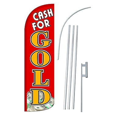 NeoPlex Cash For Gold Swooper Flag and Flagpole Set