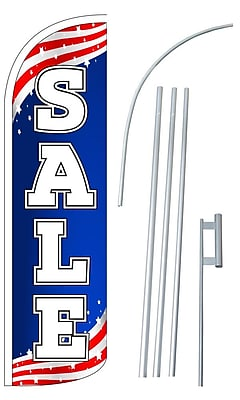 NeoPlex Sale USA Swooper Flag and Flagpole Set