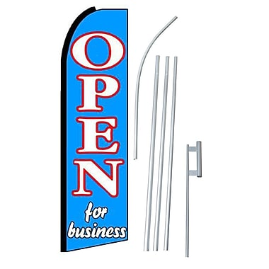 NeoPlex Open For Business Swooper Flag and Flagpole Set