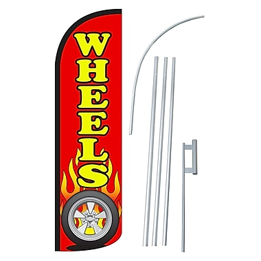 NeoPlex Wheels Swooper Flag and Flagpole Set
