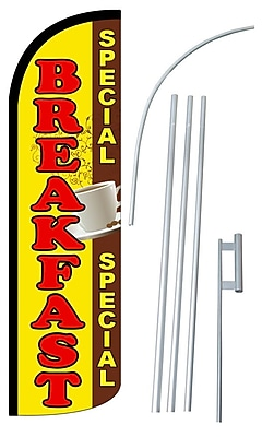 NeoPlex Breakfast Special Swooper Flag and Flagpole Set