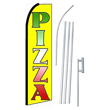 NeoPlex Pizza Swooper Flag and Flagpole Set