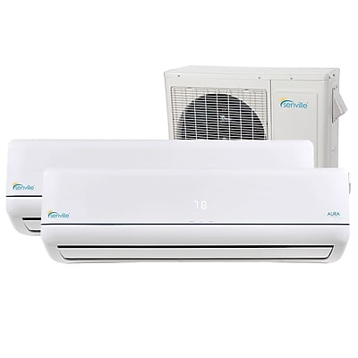 Senville Aura 18,000 BTU Energy Star Ductless Mini Split Air Conditioner w/ Remote WYF078277710197