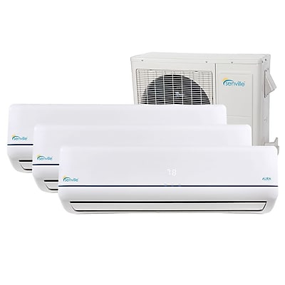 Senville Aura 27,000 BTU Energy Star Ductless Mini Split Air Conditioner w/ Remote WYF078277710200