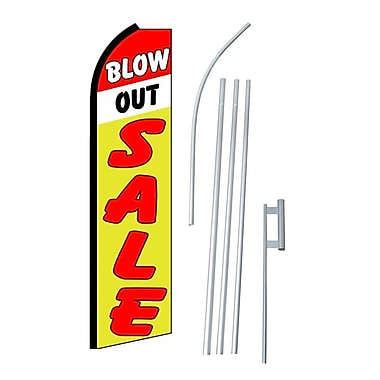 NeoPlex Blow Out Sale Swooper Flag and Flagpole Set