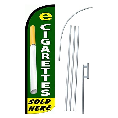 NeoPlex E-Cigarettes Sold Here Swooper Flag and Flagpole Set