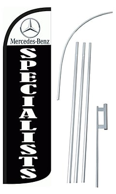 NeoPlex Mercedes-Benz Specialist Swooper Flag and Flagpole Set
