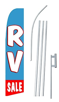 NeoPlex RV Sale Swooper Flag and Flagpole Set