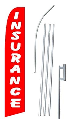 NeoPlex Insurance Swooper Flag and Flagpole Set