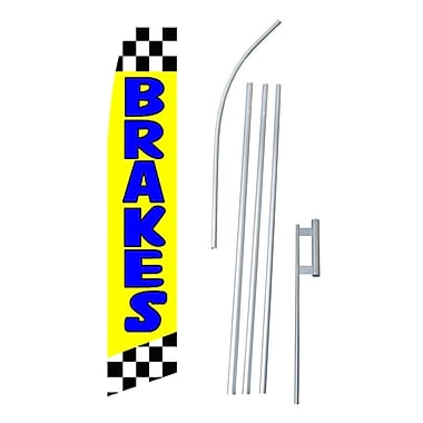 NeoPlex Brakes Swooper Flag and Flagpole Set