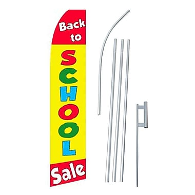 NeoPlex Back To School Sale Swooper Flag and Flagpole Set