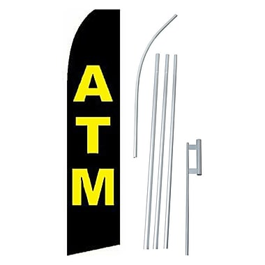 NeoPlex ATM Swooper Flag and Flagpole Set