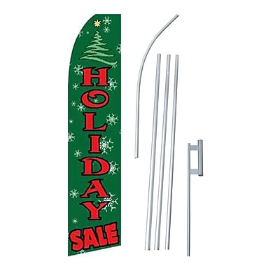 NeoPlex Holiday Sale Swooper Flag and Flagpole Set