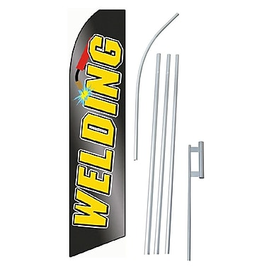 NeoPlex Welding Swooper Flag and Flagpole Set