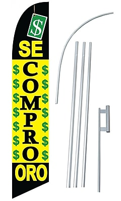 NeoPlex Se Compro Oro Swooper Flag and Flagpole Set