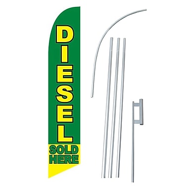 NeoPlex Diesel Sold Here Swooper Flag and Flagpole Set