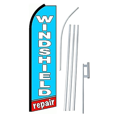 NeoPlex Windshield Repair Swooper Flag and Flagpole Set