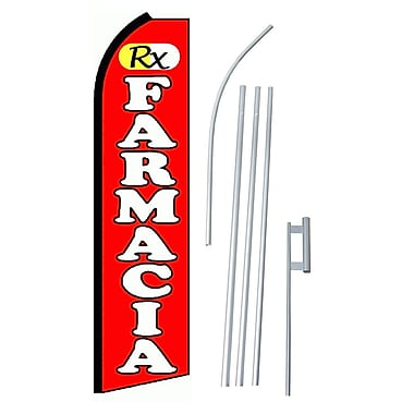NeoPlex RX Farmacia Swooper Flag and Flagpole Set
