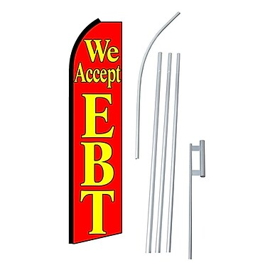 NeoPlex We Accept EBT Swooper Flag and Flagpole Set